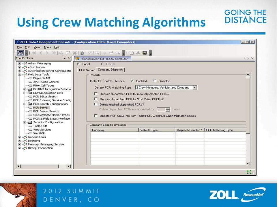 Using Crew Matching Algorithms