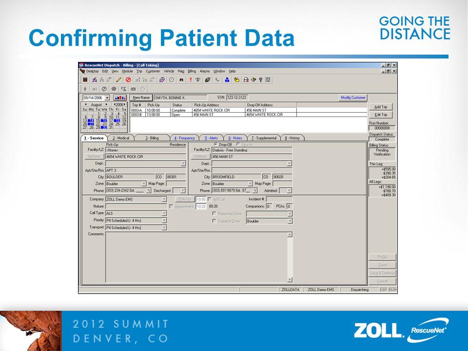 Confirming Patient Data