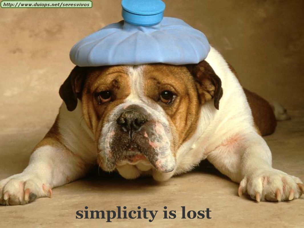 simplicity is lost