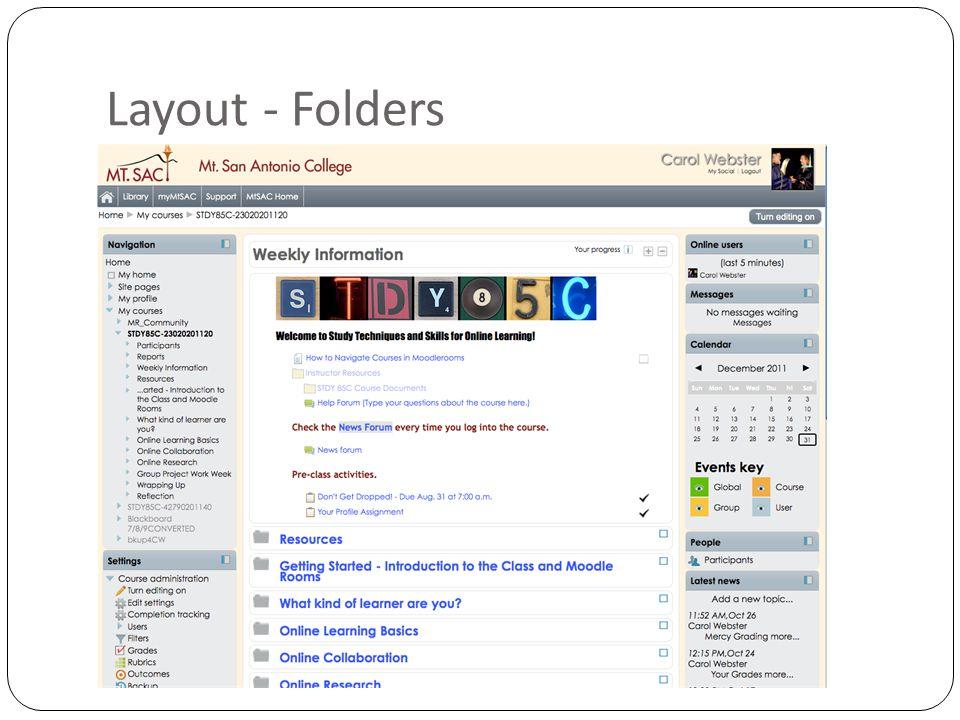 Layout - Folders