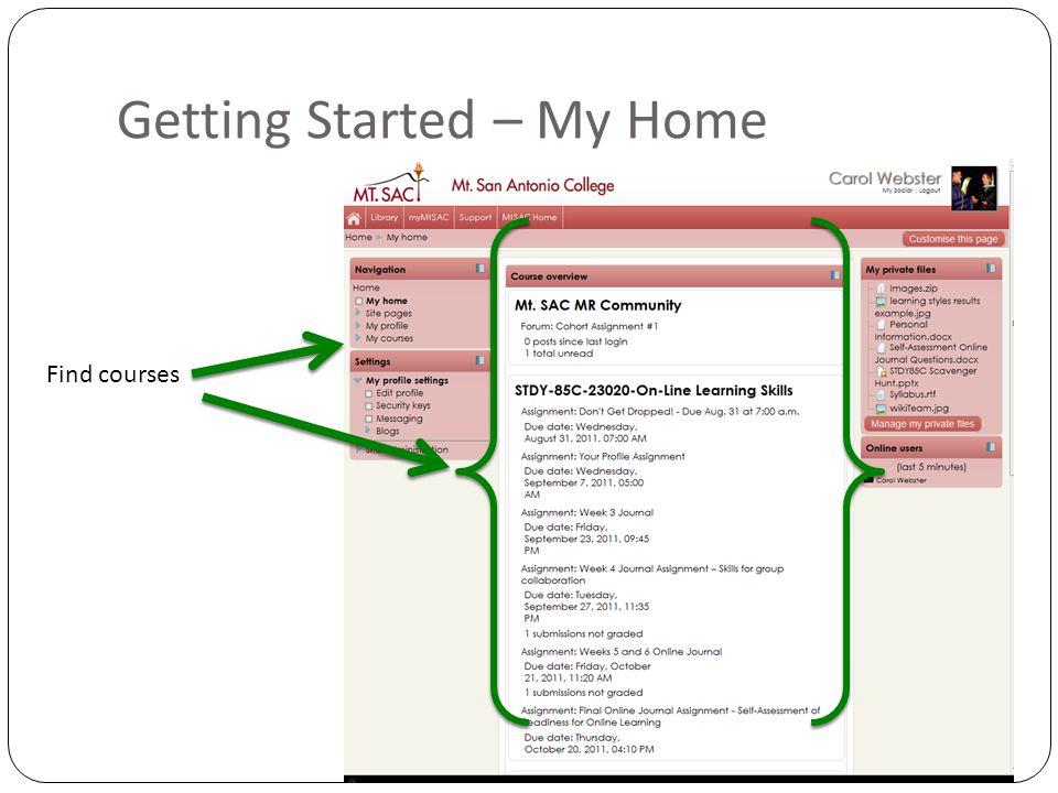 Getting Started - Set up profile Edit Profile