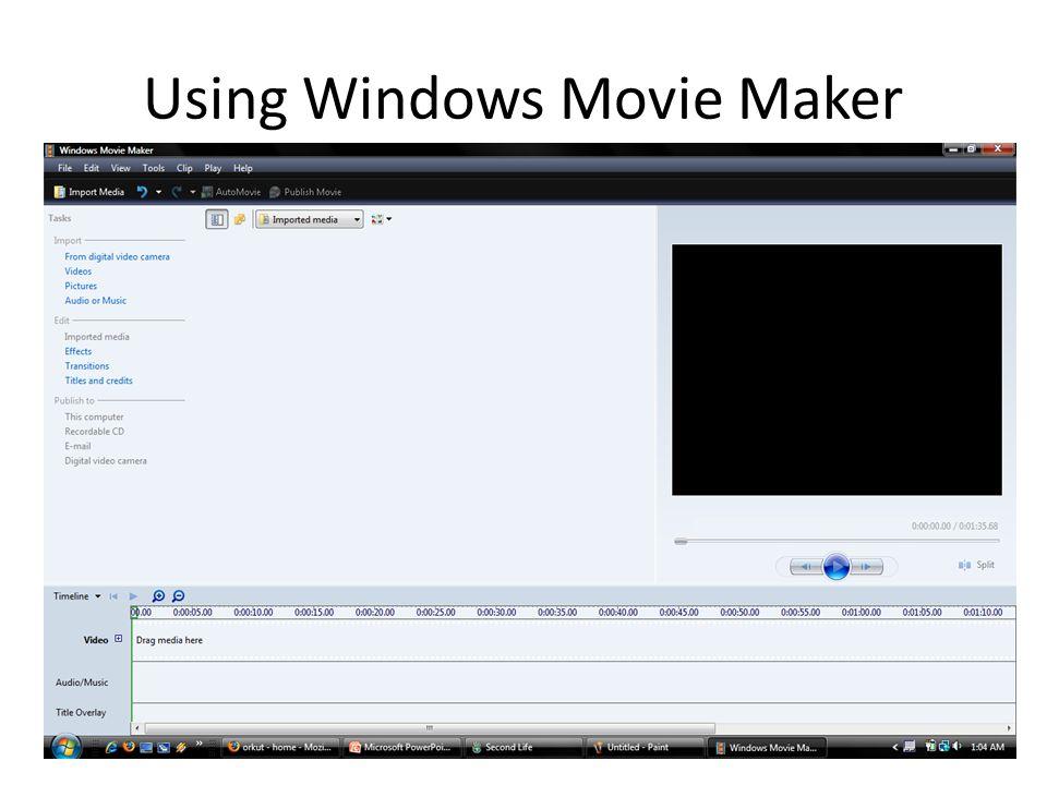 Using Windows Movie Maker