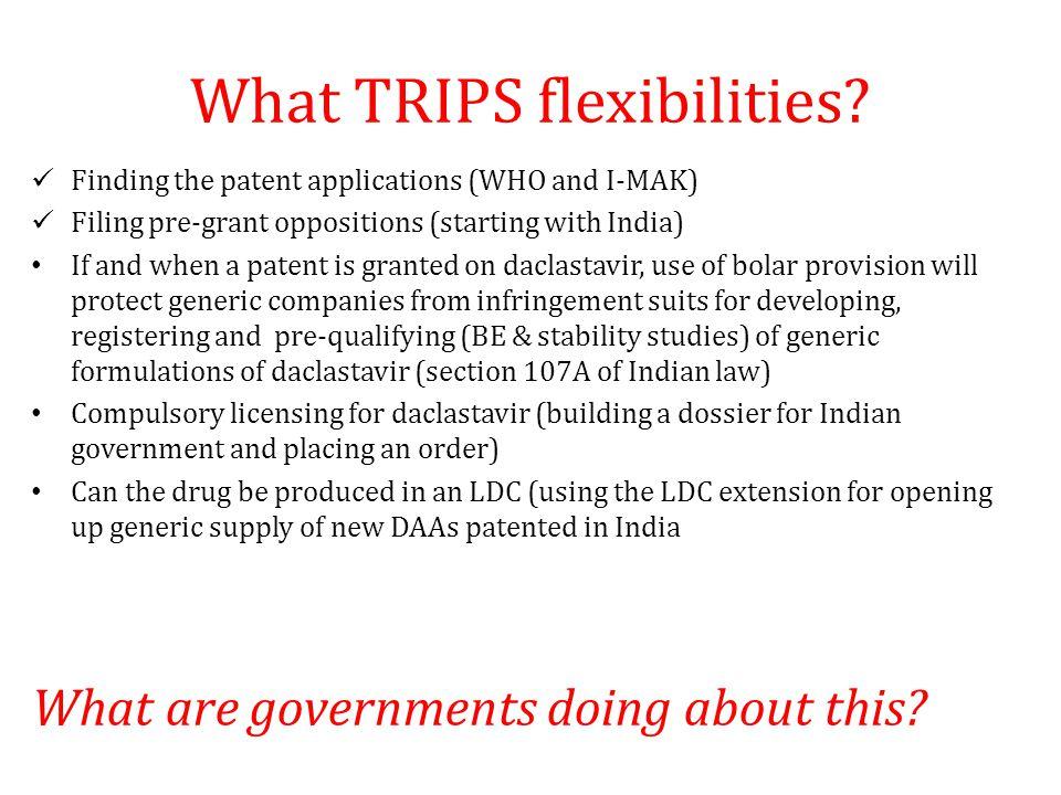 What TRIPS flexibilities.