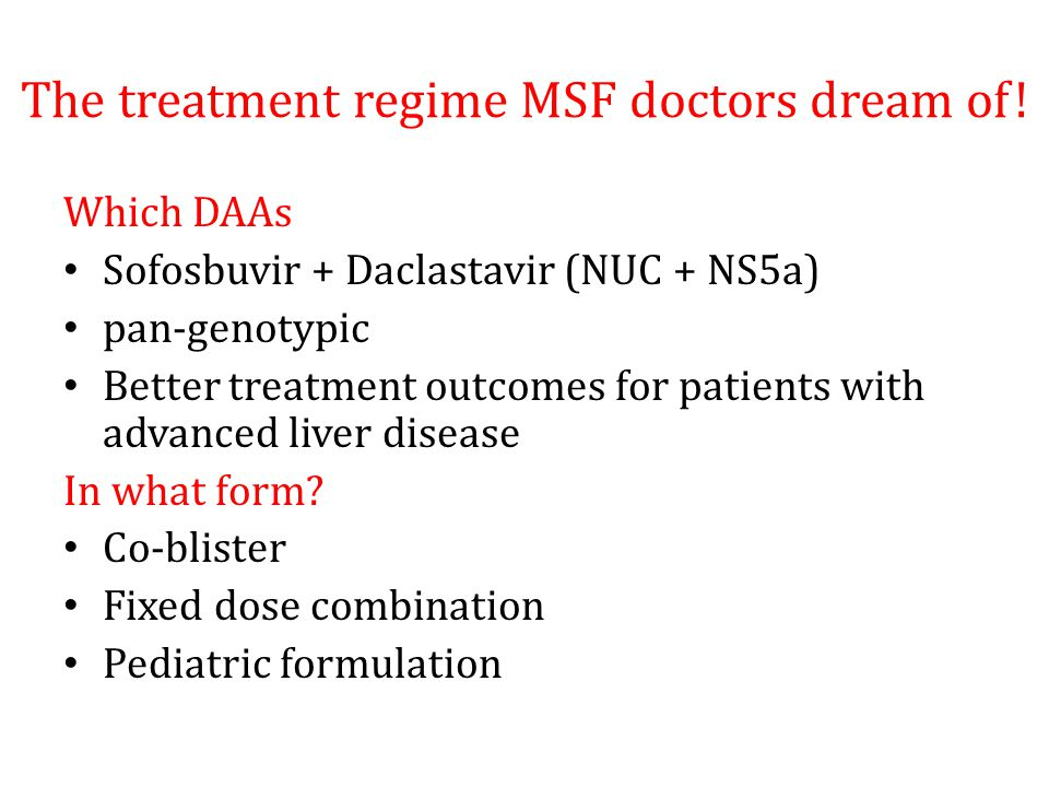 The treatment regime MSF doctors dream of.