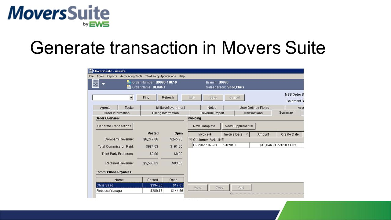 Reports>Revenue Transaction Errors