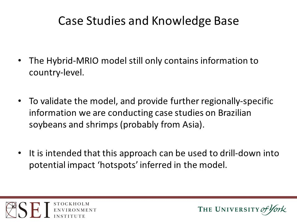 The Hybrid-MRIO model still only contains information to country-level. To validate the model, and provide further regionally-specific information we