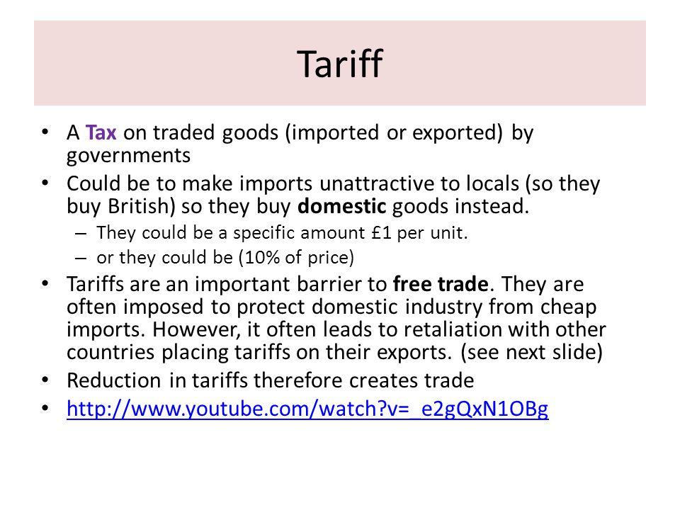 Reasons for Imposing Tariffs Raise revenue.