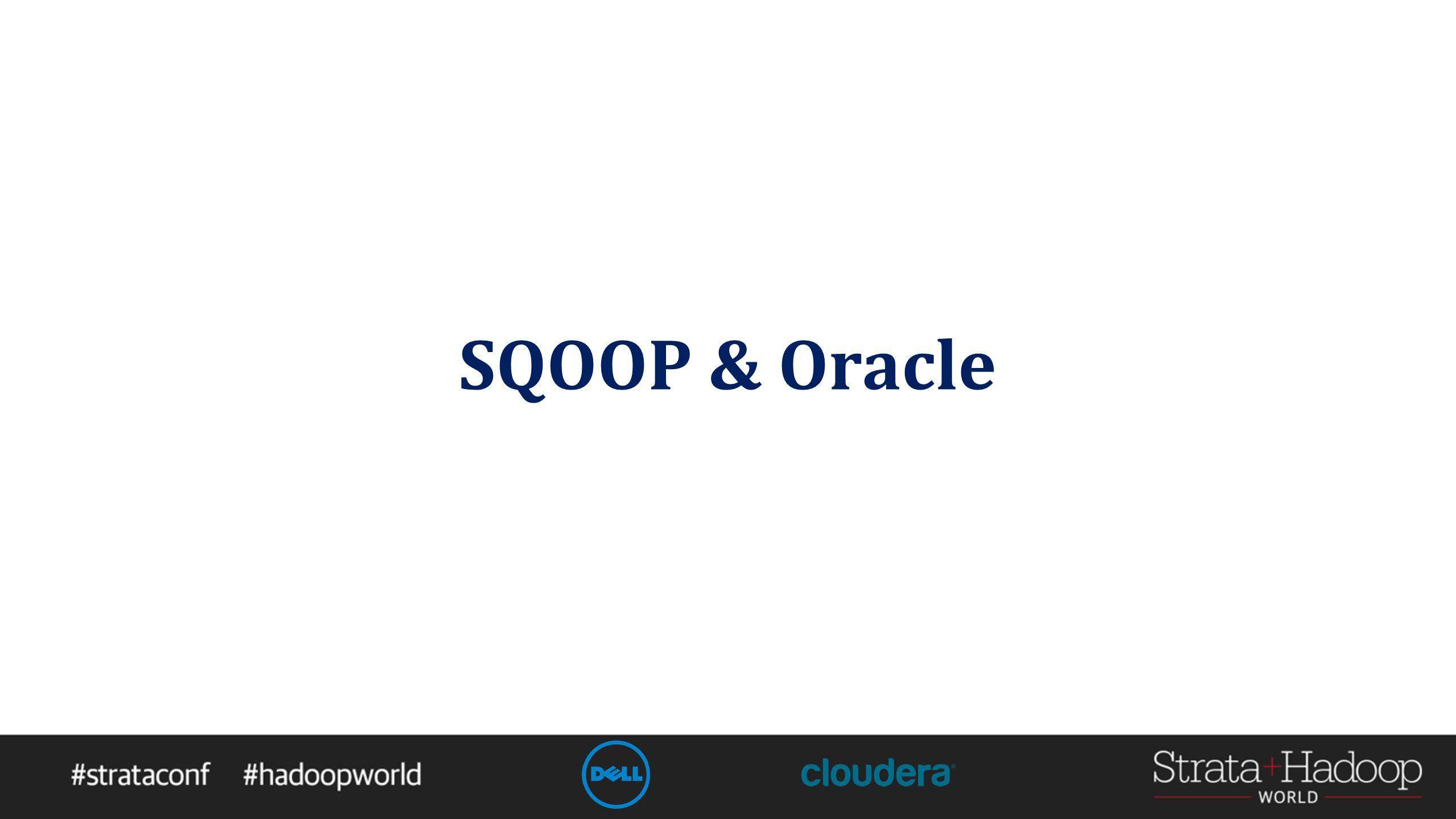 SQOOP & Oracle