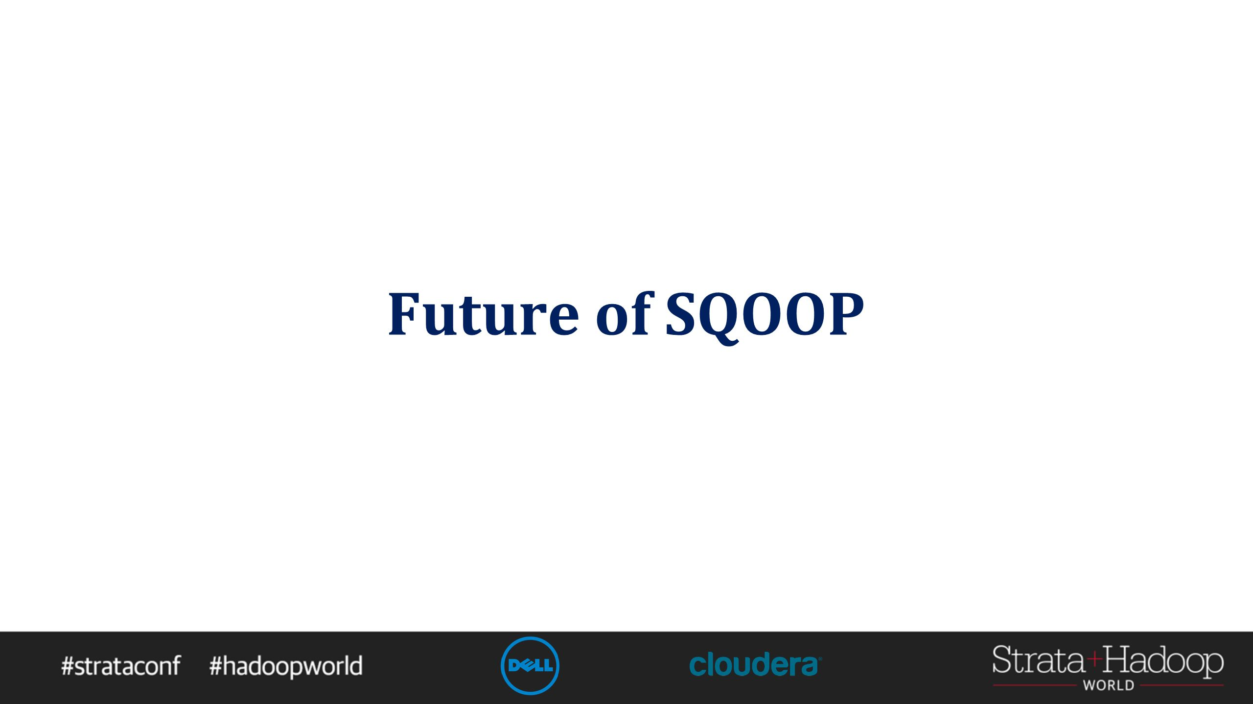 Future of SQOOP