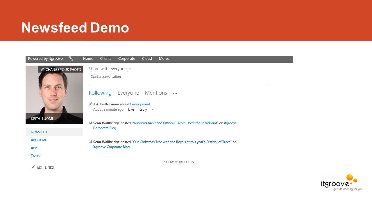 Newsfeed Demo