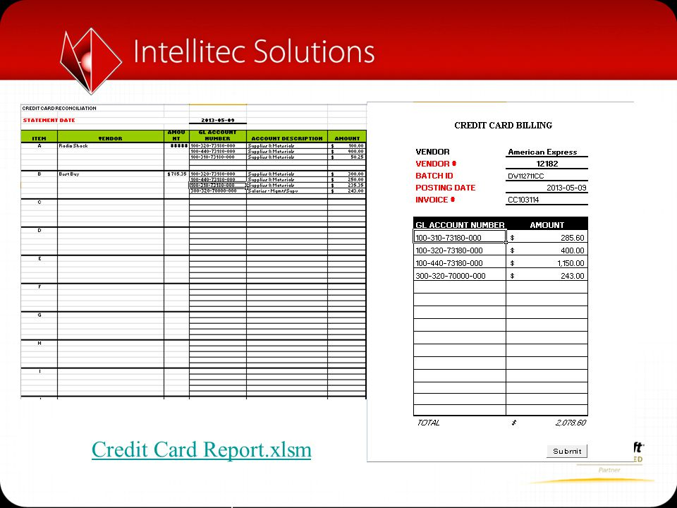 Credit Card Report.xlsm