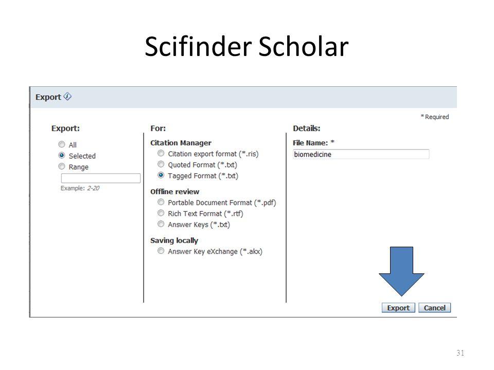 Scifinder Scholar 31