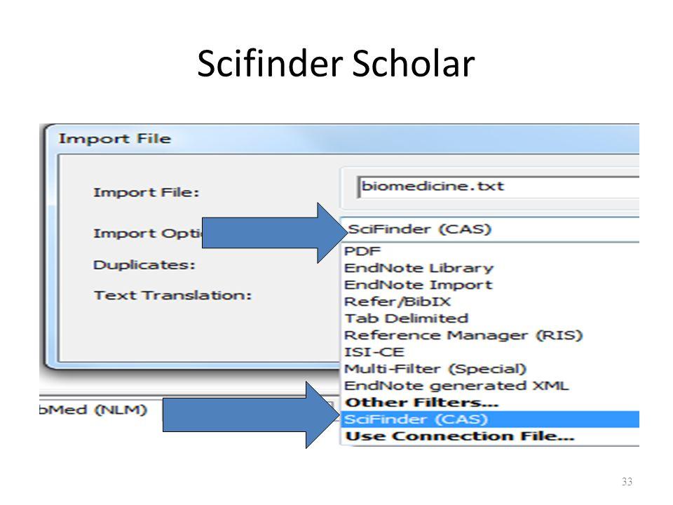 Scifinder Scholar 33