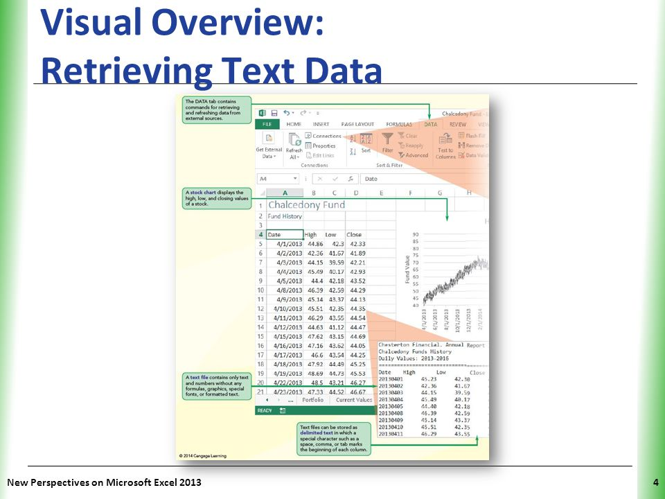 XP New Perspectives on Microsoft Excel 20134 Visual Overview: Retrieving Text Data