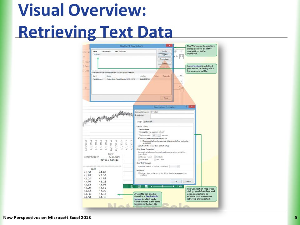 XP New Perspectives on Microsoft Excel 20135 Visual Overview: Retrieving Text Data