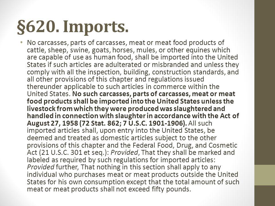 §620. Imports.