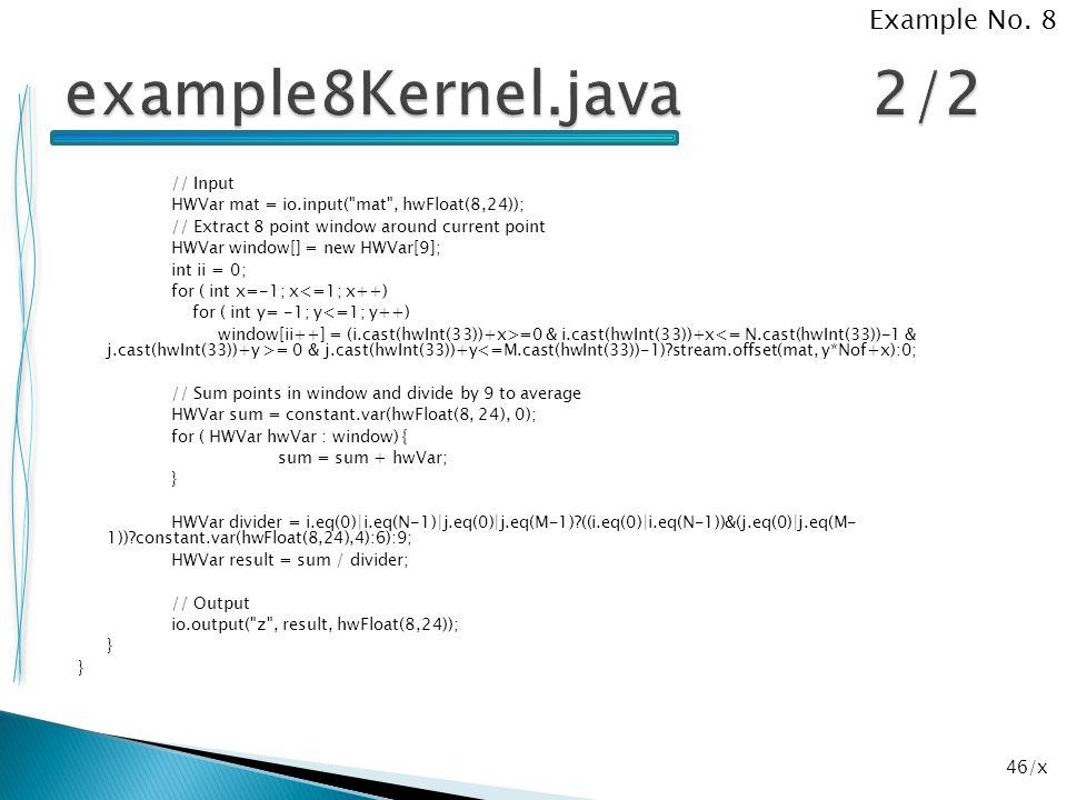 46/x // Input HWVar mat = io.input(