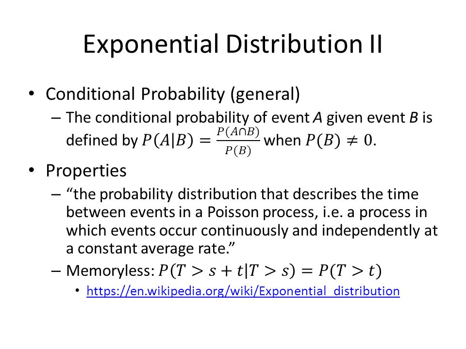 Exponential Distribution II