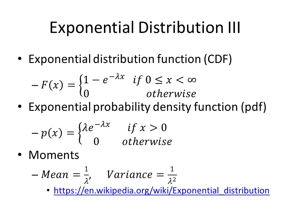 Exponential Distribution III