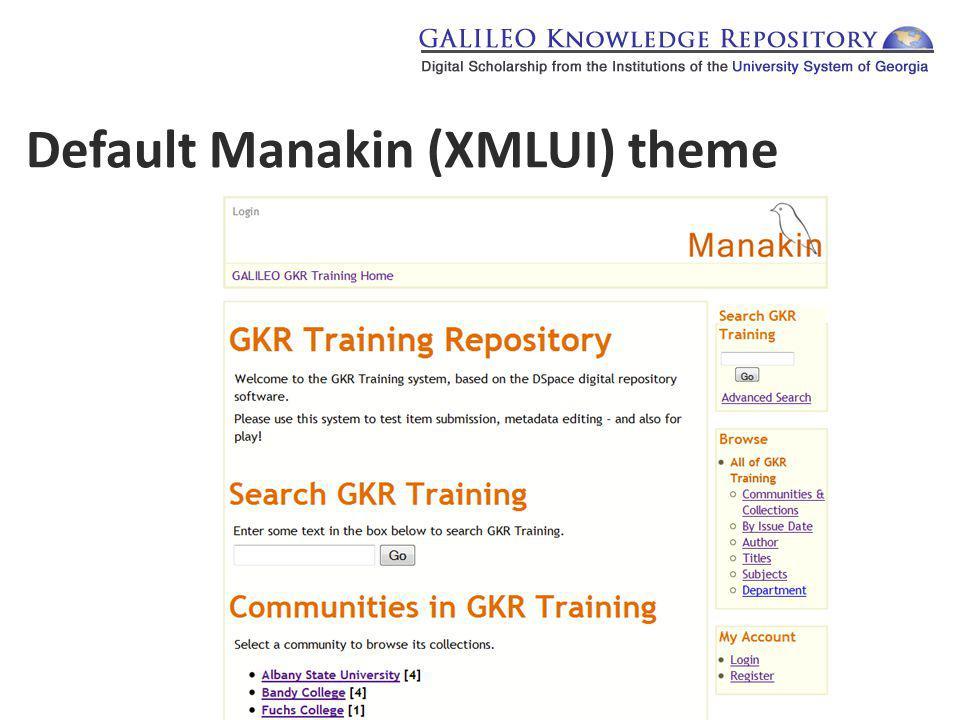 Default Manakin (XMLUI) theme