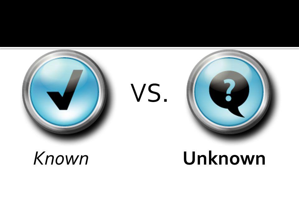 KnownUnknown VS.