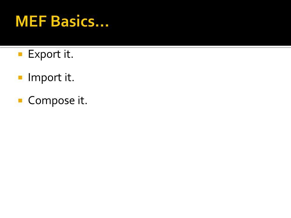  Export it.  Import it.  Compose it.
