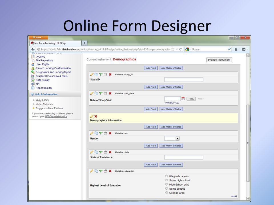 Online Form Designer