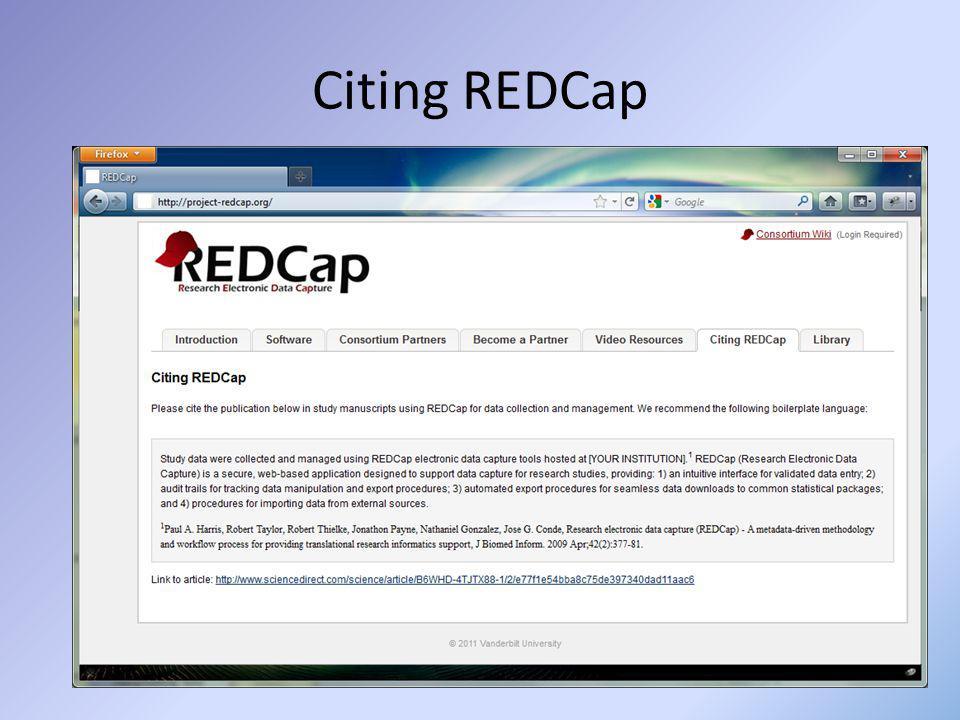 Citing REDCap