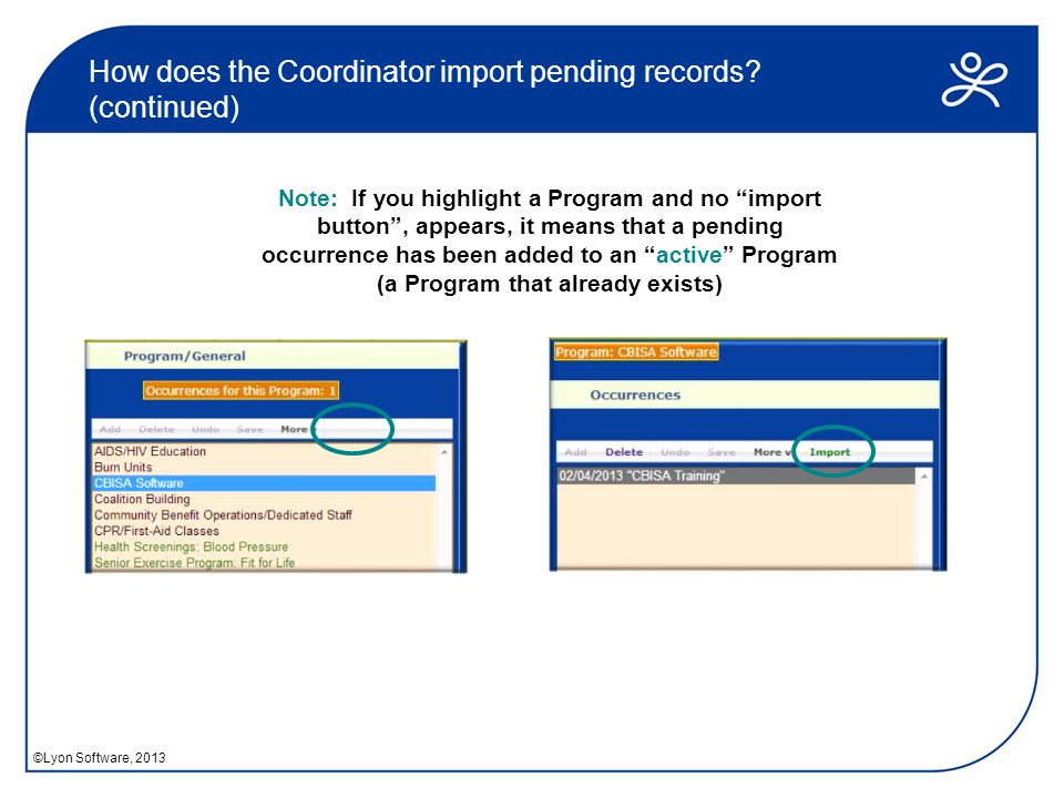 How does the Coordinator import pending records.