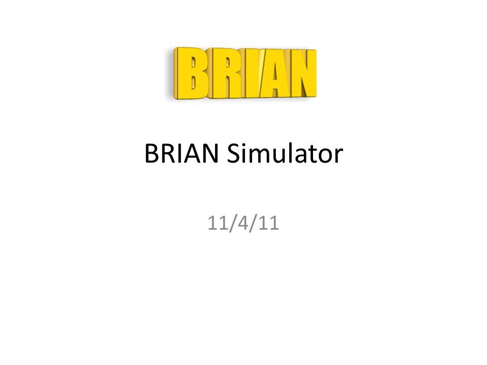 BRIAN Simulator 11/4/11