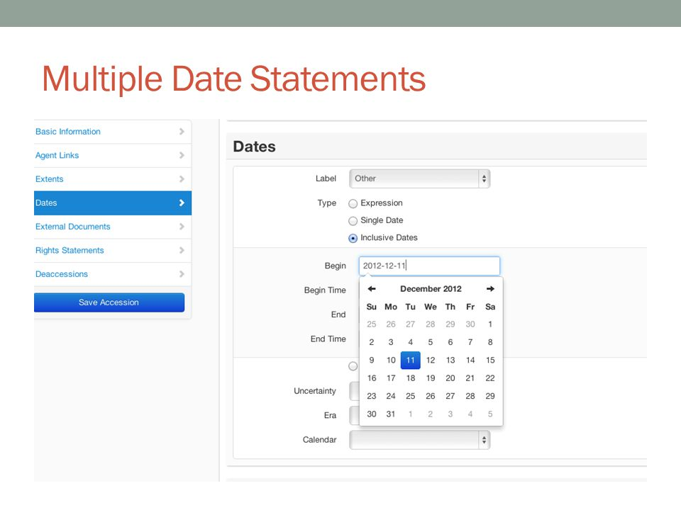 Multiple Date Statements