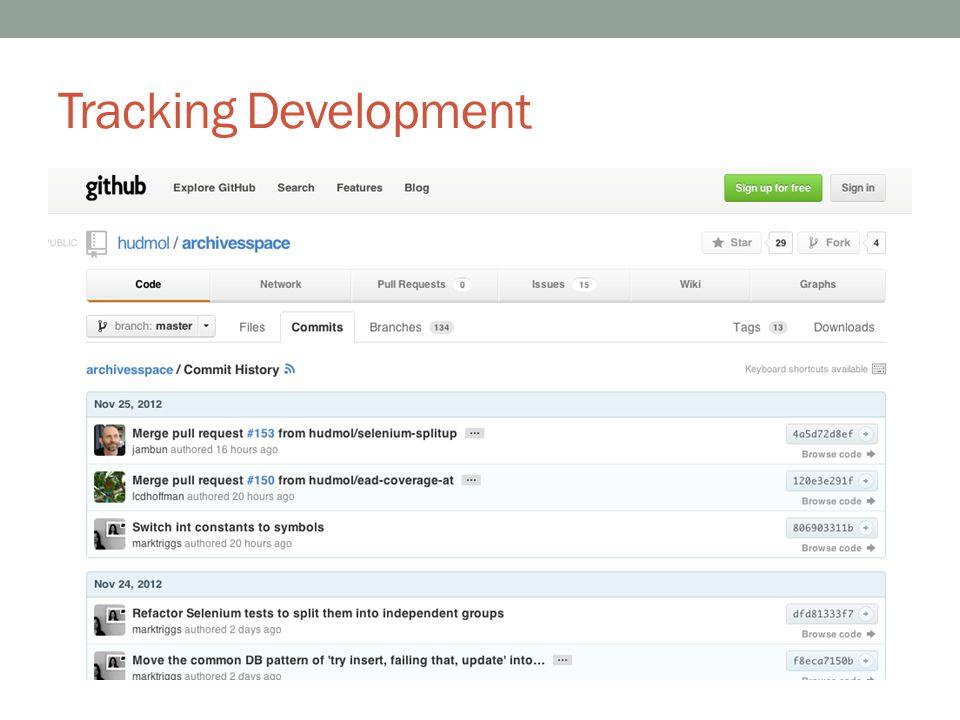Tracking Development