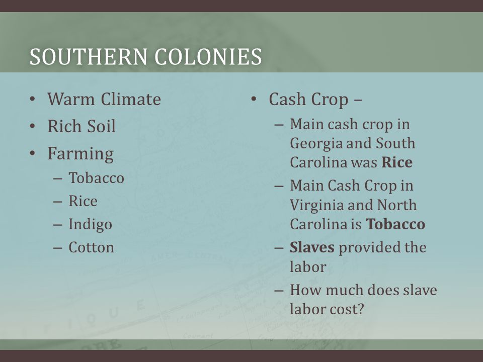 PLANTATIONS A large estate run by an owner or manager and farmed by laborers who lived there (or slaves) Large plantations had overseer to take care of the slaves… – Slave Boss What does a plantation look like?
