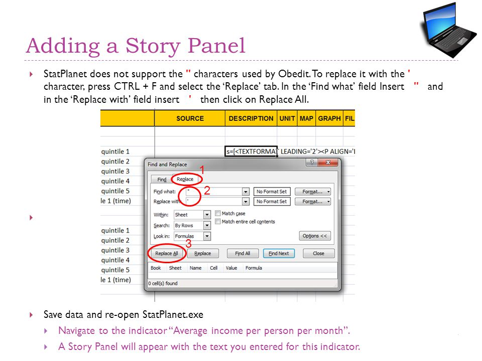 Adding a Story Panel  StatPlanet does not support the