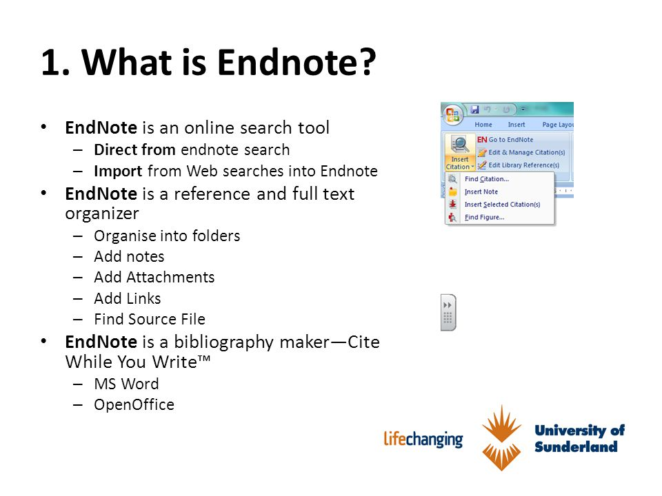 1. What is Endnote.