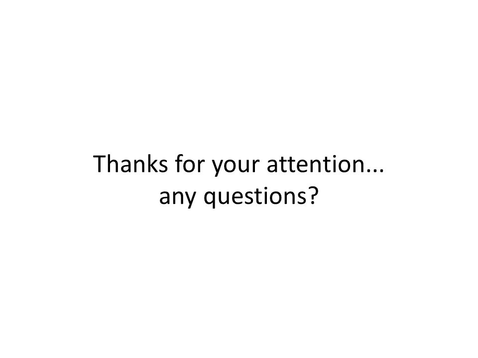 Thanks for your attention... any questions?