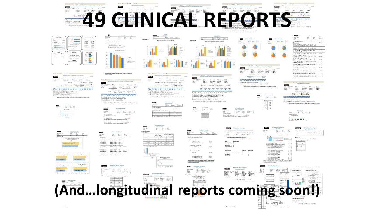 (And…longitudinal reports coming soon!) 49 CLINICAL REPORTS