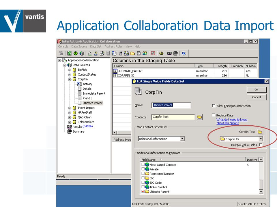 Application Collaboration Data Import
