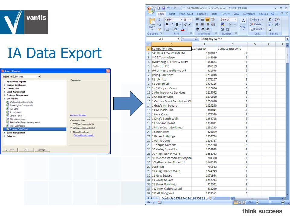 IA Data Export