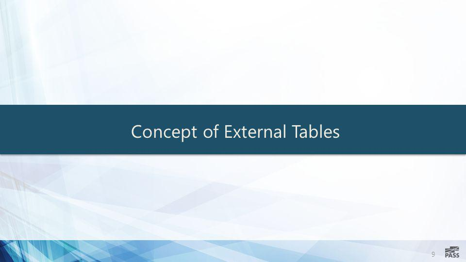 9 Concept of External Tables