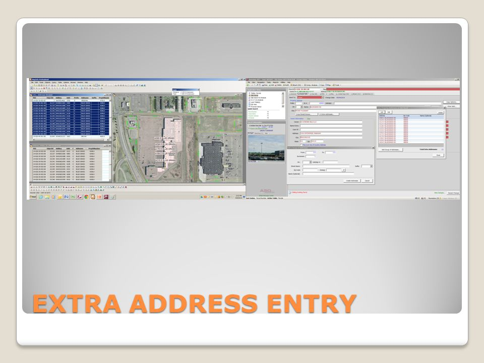 EXTRA ADDRESS ENTRY