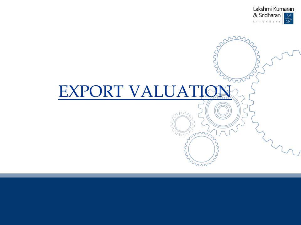 EXPORT VALUATION