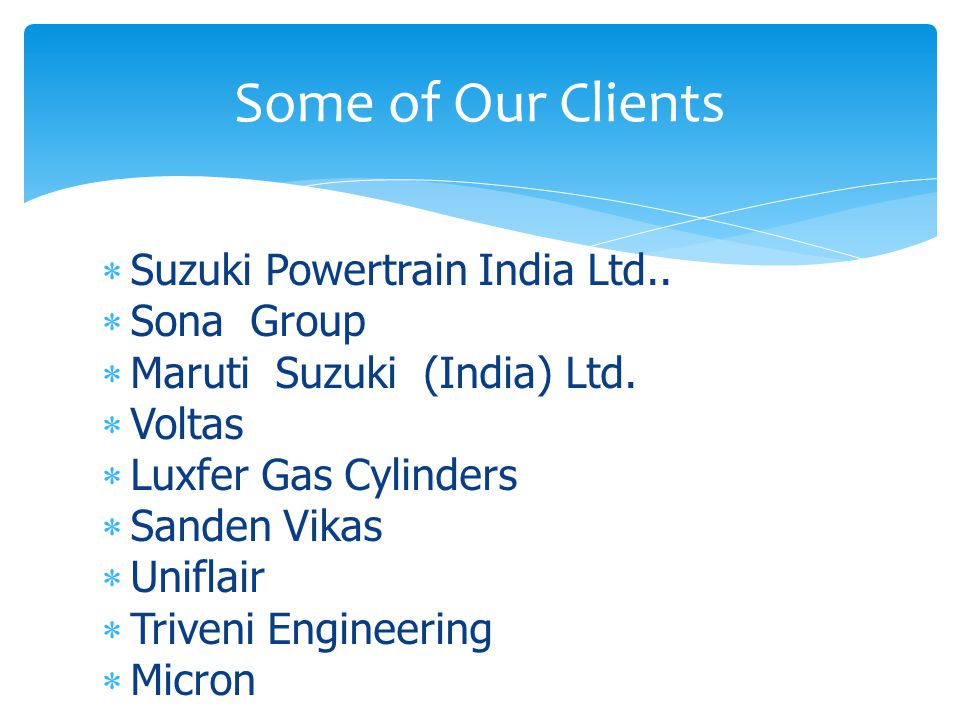  Suzuki Powertrain India Ltd..  Sona Group  Maruti Suzuki (India) Ltd.