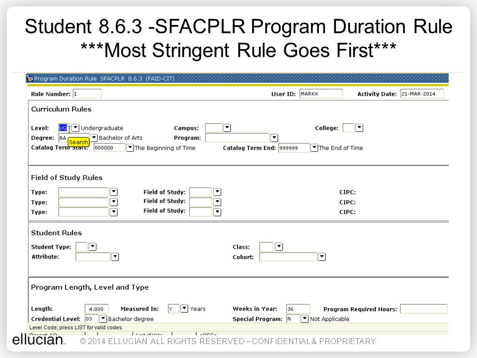 RPASSUI – Student Sub Usage Info Form Can Create Manual Record © 2014 ELLUCIAN.