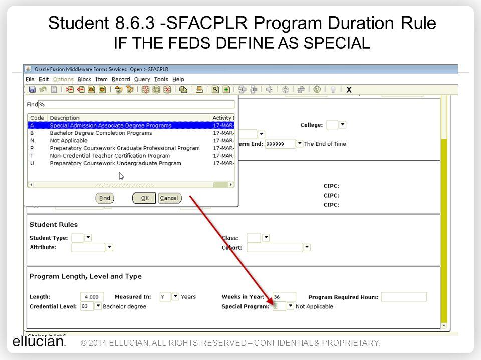 RPASSUI – Student Sub Usage Info Form SUB LOANS SHOW CURRENT COD © 2014 ELLUCIAN.