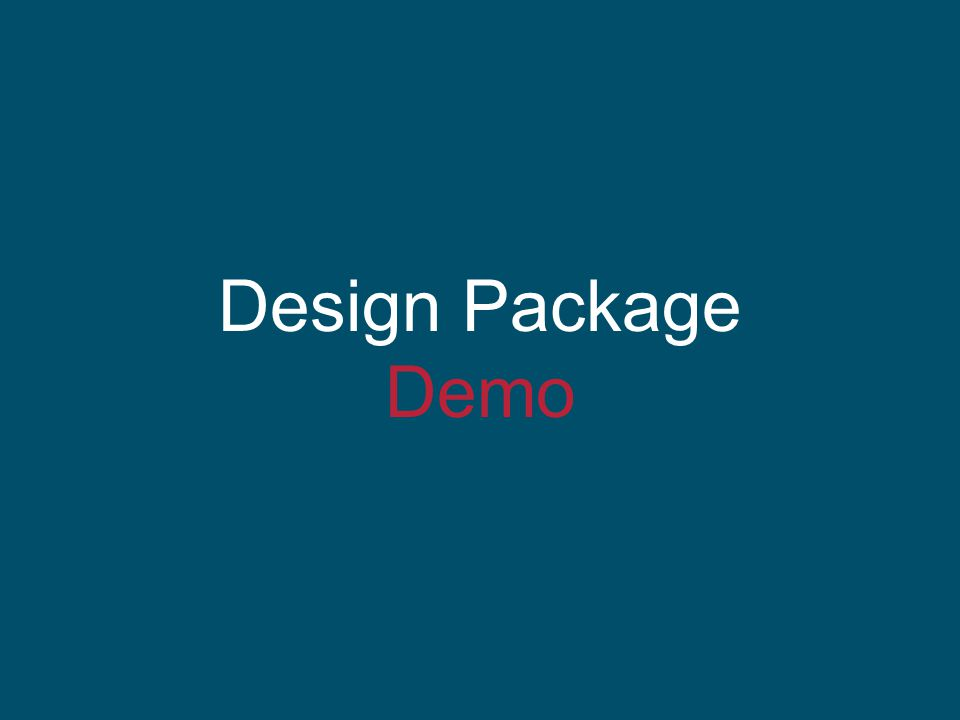 Design Package Demo