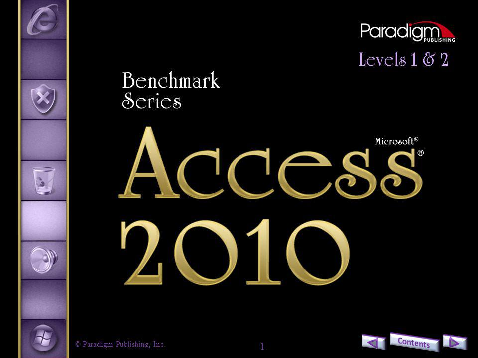 2 Access 2010 Level 2 Unit 2Advanced Reports, Access Tools, and Customizing Access Chapter 8Integrating Access Data