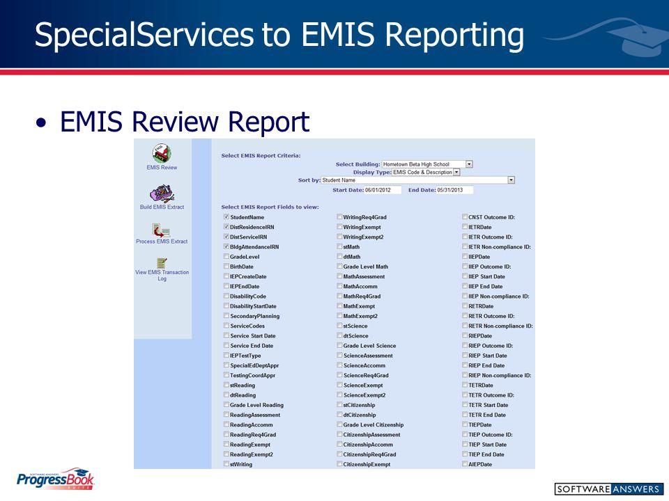 EMIS Review Report