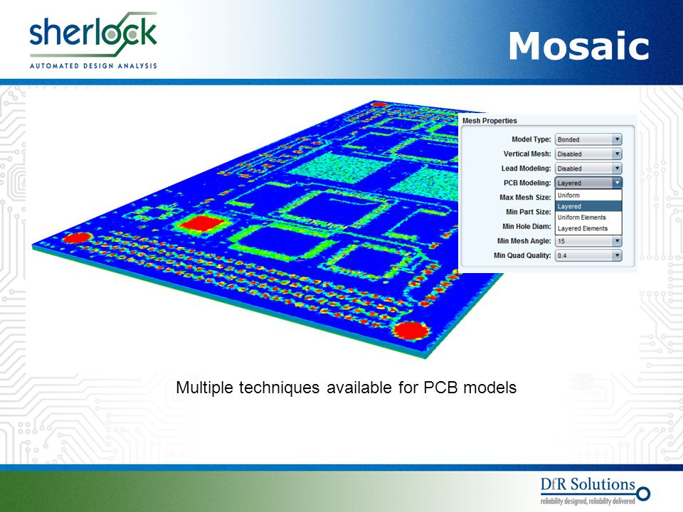 Mosaic Multiple techniques available for PCB models