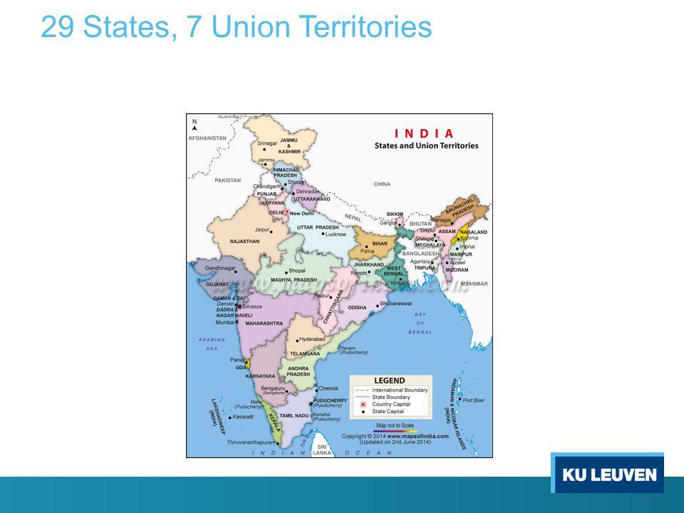 29 States, 7 Union Territories